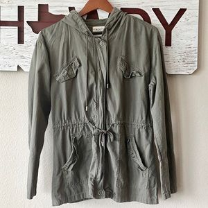 Ashley Military Olive Green Cargo Jacket